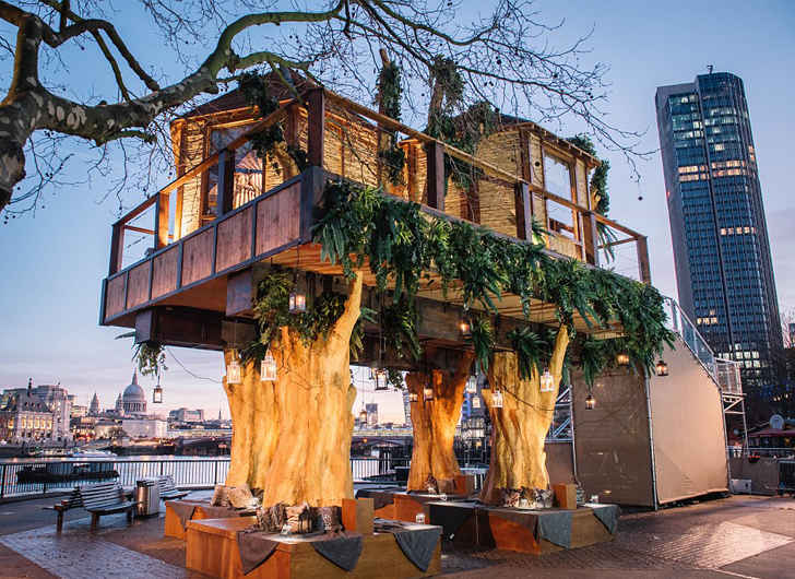 Ultra-Posh Treehouse in Central London